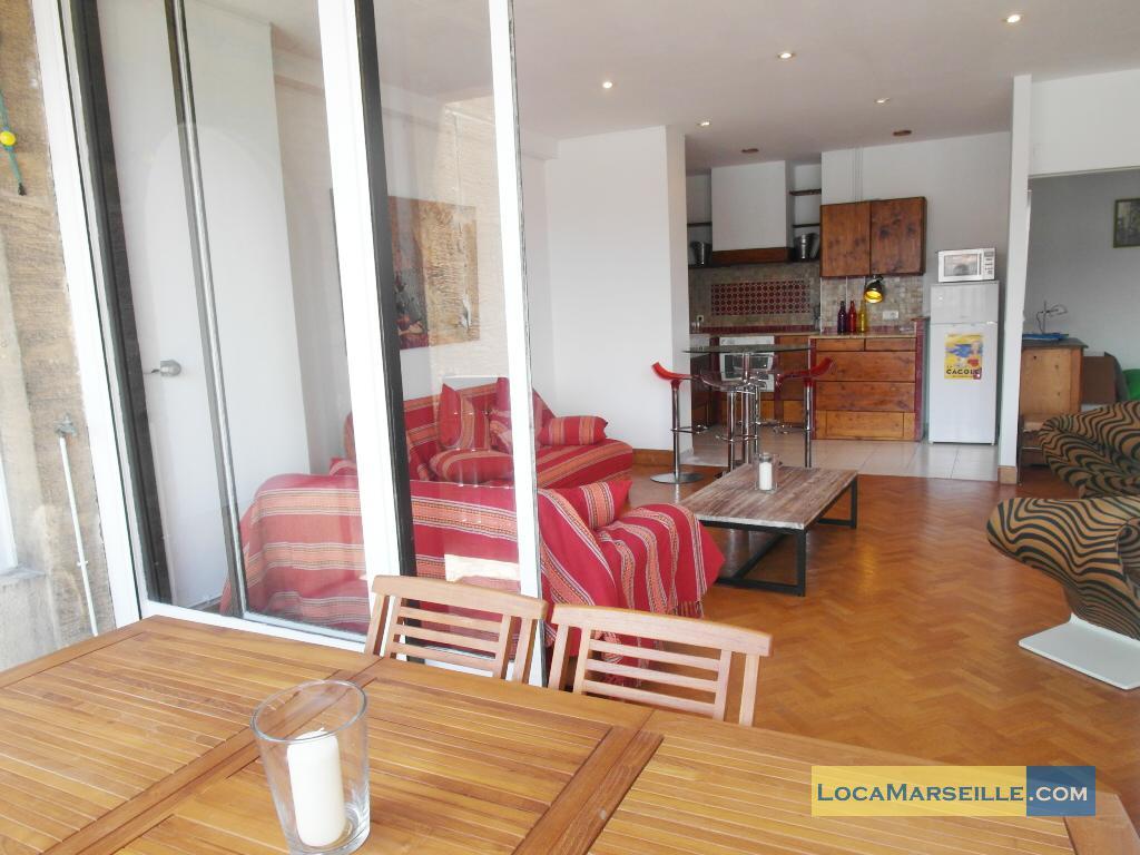 Marseille location meubl e appartement type t4 terrasses du vieux port - Spa terrasse appartement ...