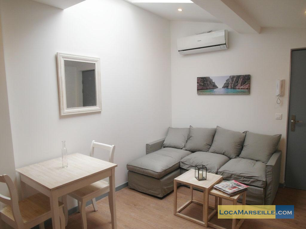 Marseille location meubl e appartement type t2 kitchou for Location appartement design marseille