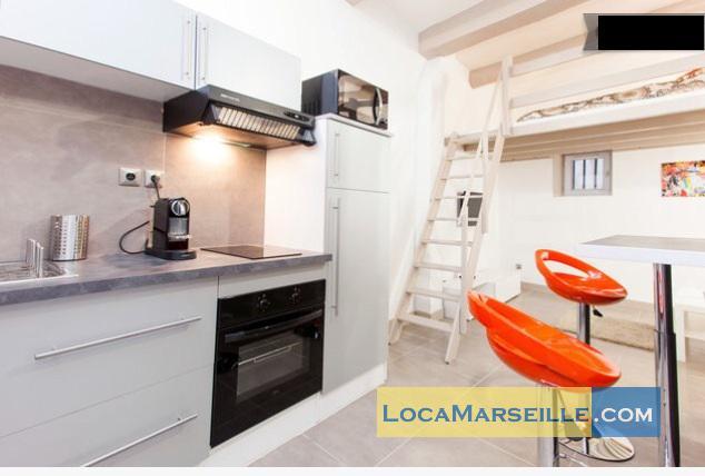 Marseille location meubl e appartement type t1 studio le petit st victor for Petit coin cuisine