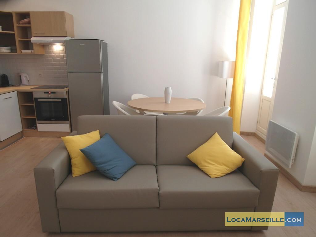Location meubl e marseille appartement type t3 senac duplex for Location appartement design marseille