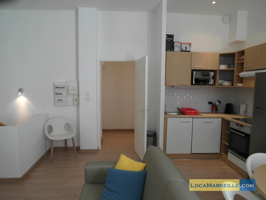 Location meubl e marseille appartement type t3 senac duplex for Location meublee